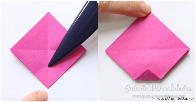 Нежные розочки из бумаги в технике оригами (5) (626x326, 91Kb)