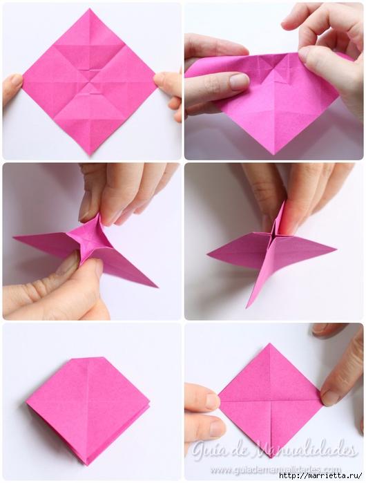 Нежные розочки из бумаги в технике оригами (7) (530x700, 207Kb)