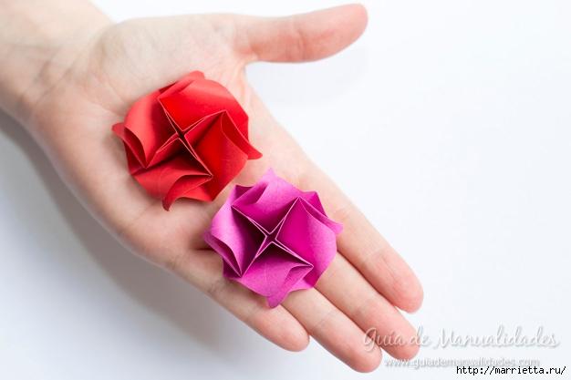Нежные розочки из бумаги в технике оригами (13) (626x417, 105Kb)