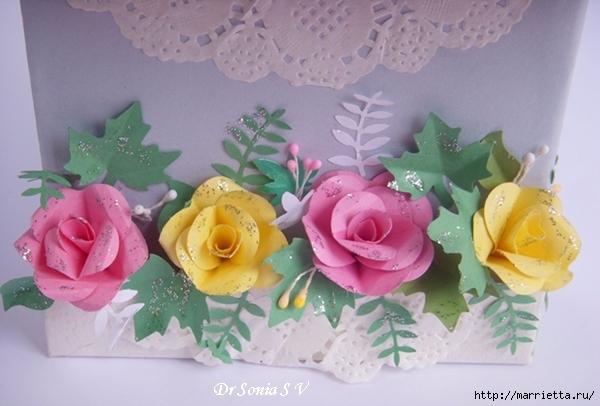 Скрапбукинг. Розы из бумаги (10) (600x406, 178Kb)