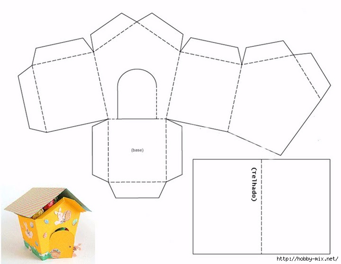Домик из картона своими руками схема