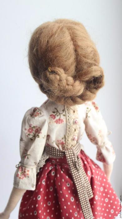 Волосы для кукол из пряжи для валяния