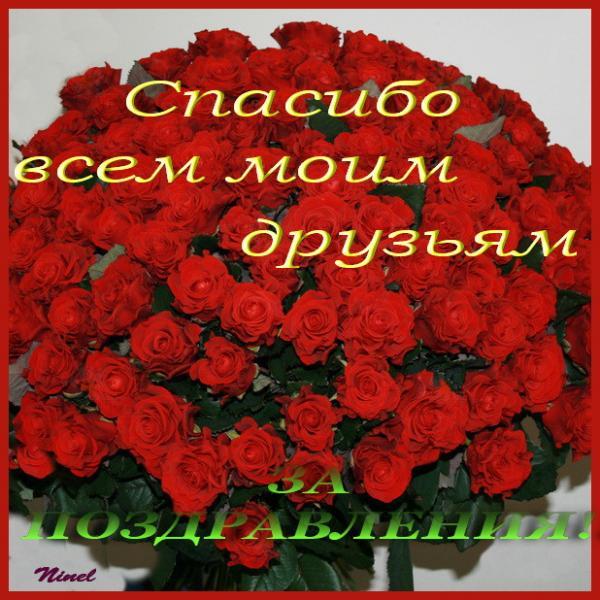 Спасибо всем за поздравление очень приятно