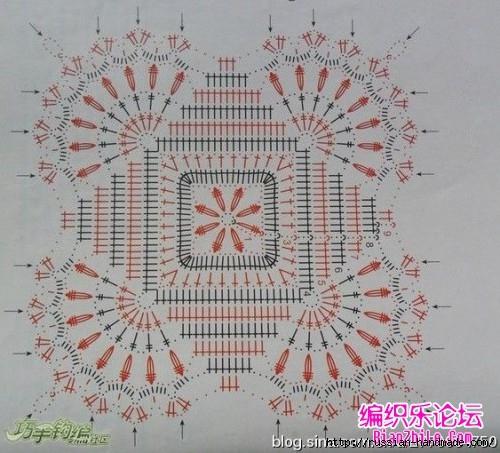Ажурная скатерть крючком. Схема (1) (500x453, 182Kb)