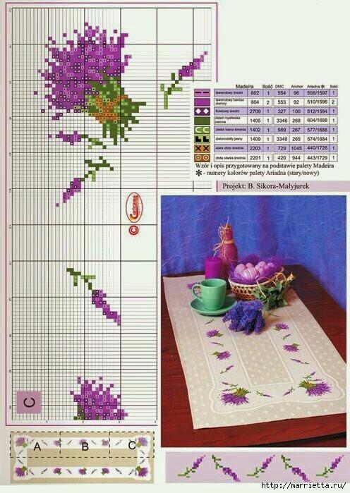 Схемы вышивки ЛАВАНДЫ (6) (496x699, 224Kb)