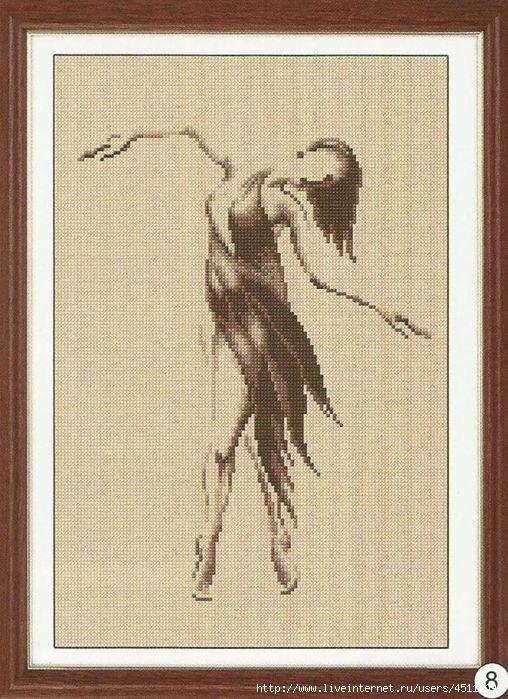 Вышивка крестиком танцы