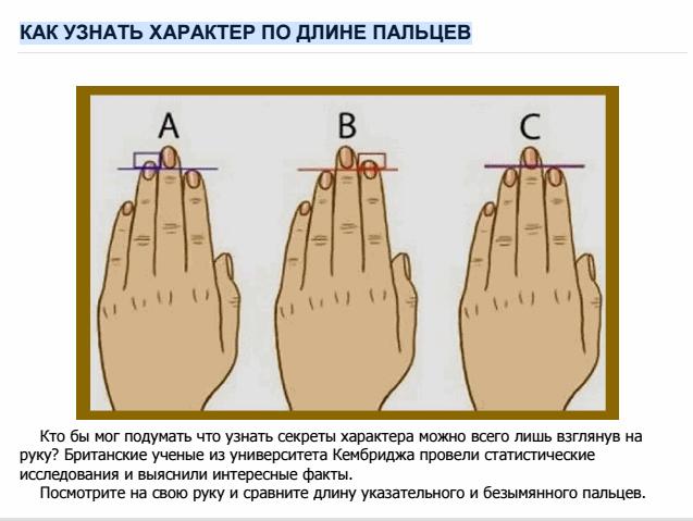 Посмотри на свою руку и сравни