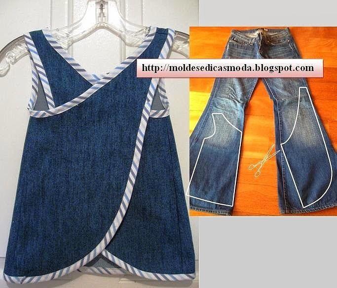 Переделки из джинсов фото