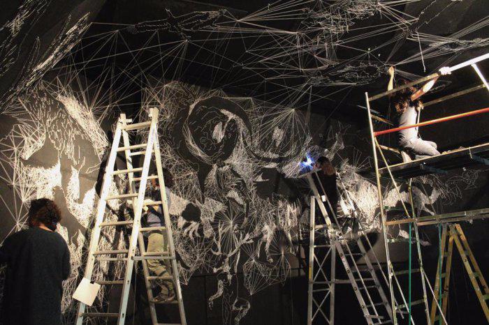 инсталляция звездные пещеры Жюльен Салю 12 (700x466, 337Kb)