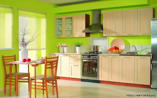 Как правильно оформить кухню в зеленых тонах (1) (650x406, 165Kb)
