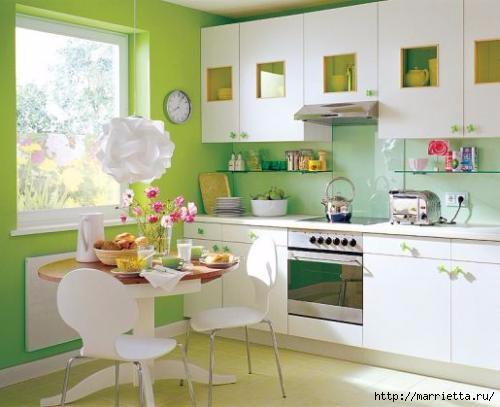 Как правильно оформить кухню в зеленых тонах (5) (500x407, 97Kb)