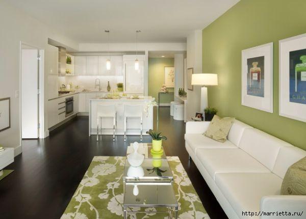 Как правильно оформить кухню в зеленых тонах (7) (600x430, 93Kb)