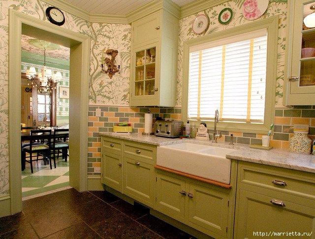 Как правильно оформить кухню в зеленых тонах (9) (640x485, 245Kb)