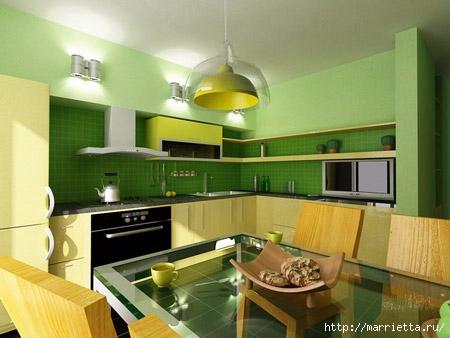 Как правильно оформить кухню в зеленых тонах (13) (450x338, 100Kb)