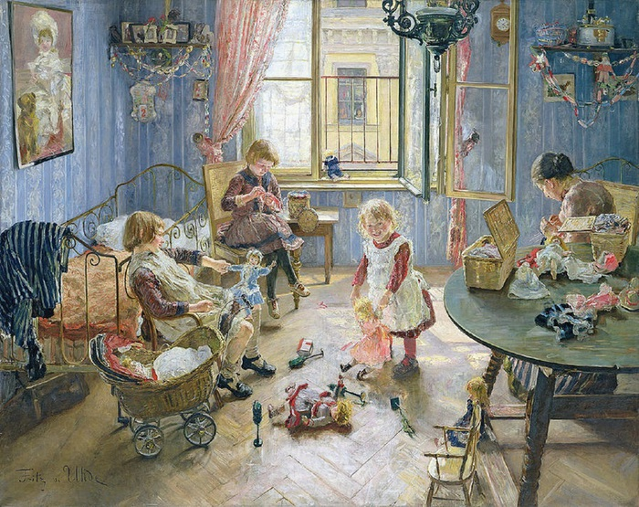 the-nursery-fritz-von-uhde (700x555, 214Kb)