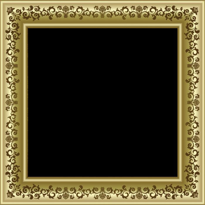 Gold Vintage Frame_1 (700x699, 273Kb)