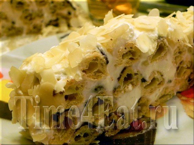 торт полено с заварным кремом рецепт