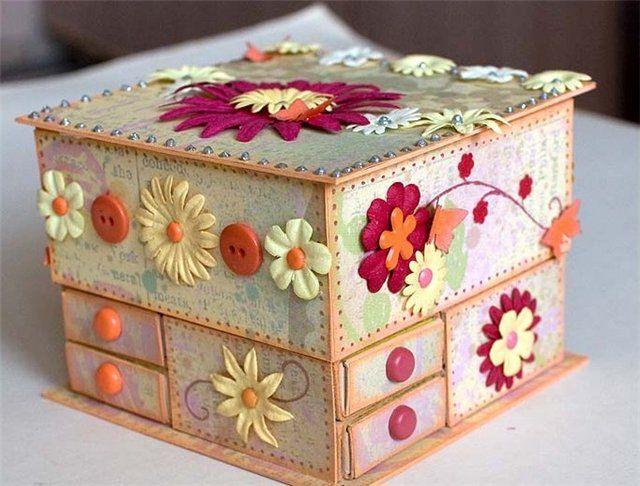 Поделки шкатулки из коробок