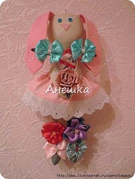 Кукла для резинок и заколок своими руками 11