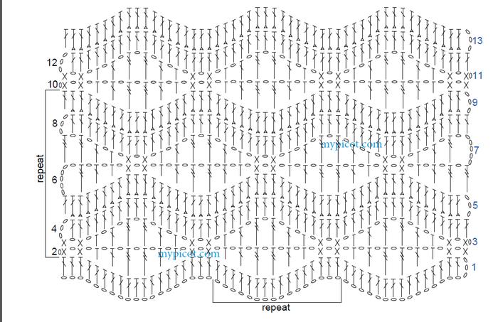 Палантин паутинка ручейки схема вязания 43