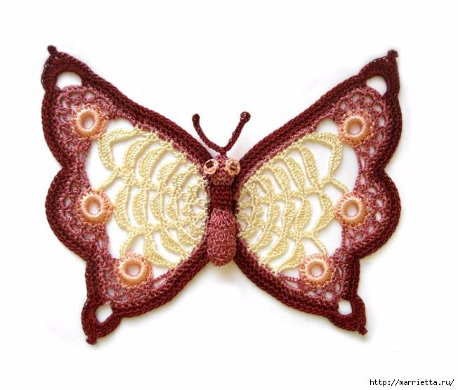 Стрекоза и бабочка крючком. Схемы (1) (652x555, 166Kb)