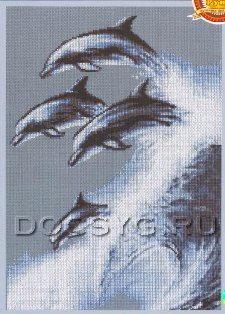 вышивка Дельфины (225x314, 80Kb)