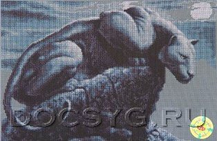 схема вышивки Черная пантера (314x204, 77Kb)