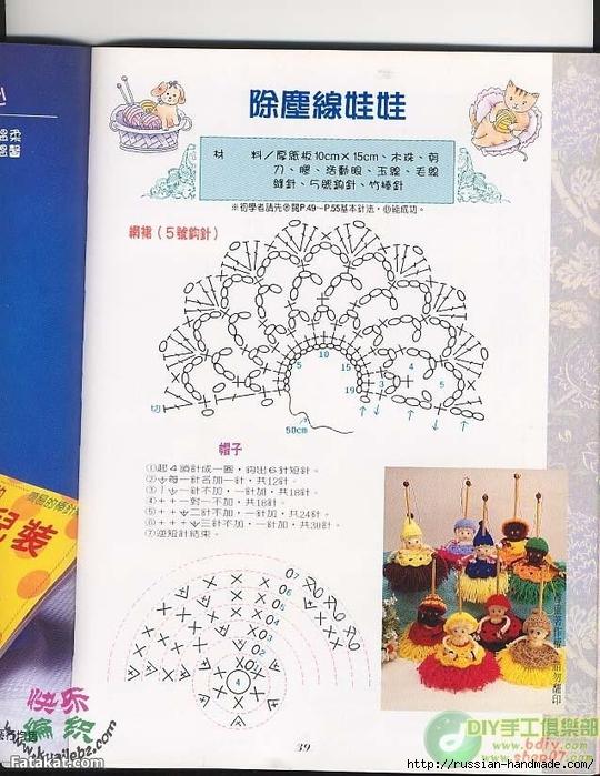 Куколки-метелки из пряжи (2) (540x700, 295Kb)