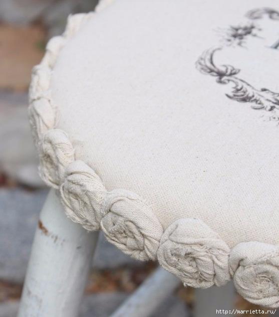 Декор табуретки сидушкой в винтажном стиле (7) (557x632, 153Kb)