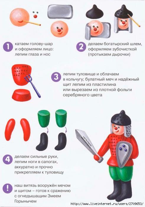 Поделки из пластилина с инструкциями 338