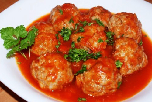 Тефтели мясные с подливкой в духовке рецепт пошагово