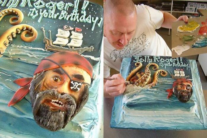 необычные торты фото 11 (700x465, 420Kb)