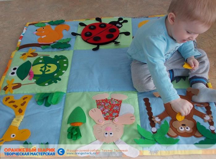 Детские развивающие коврики до года своими руками