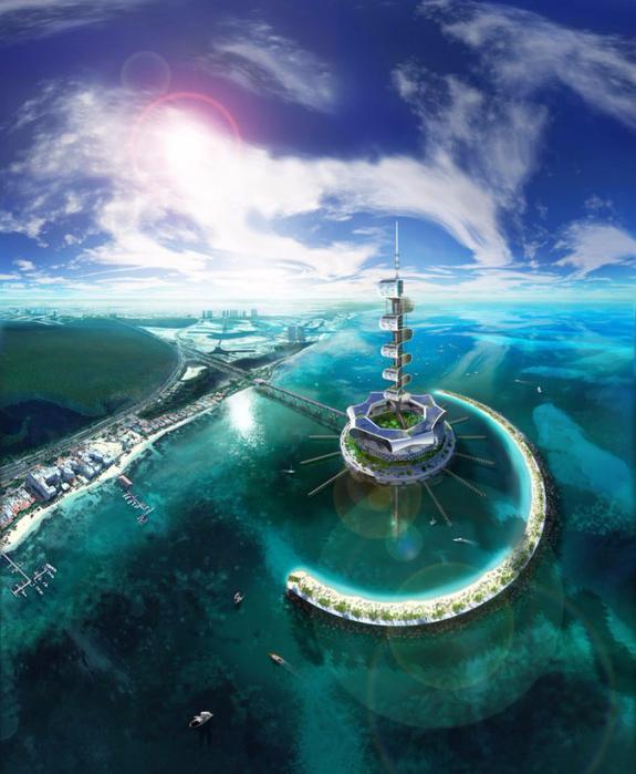 экологический остров Grand Cancun 1 (575x700, 413Kb)