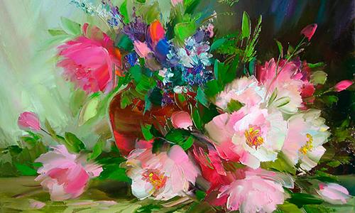 цветы и женщина 16 (500x300, 268Kb)