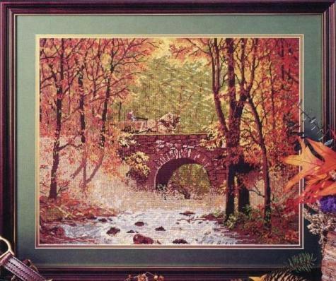 JCA 06010 Autumn Bridge (475x398, 224Kb)