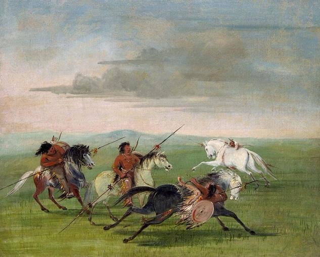 Comanche Feats of Horsemanship (633x509, 379Kb)