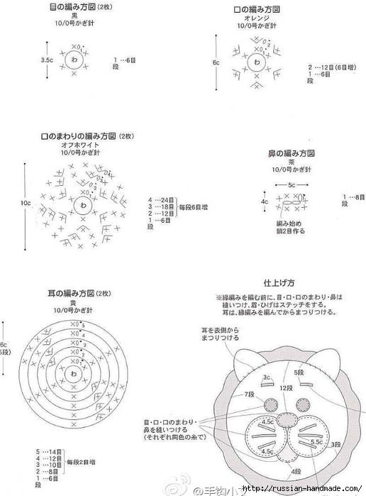 Веселые сидушки крючком для детских стульчиков (4) (516x700, 141Kb)