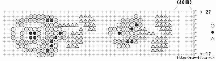 Сумочка с розочками крючком. Схема (5) (700x198, 117Kb)