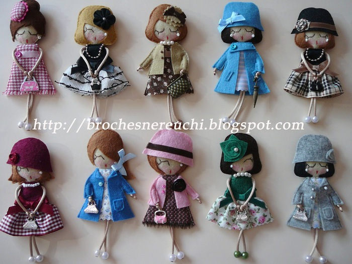 Куклы брошки своими руками из