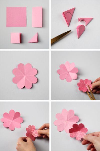 Декоративный весенний венок из бумажных цветов (3) (398x600, 99Kb)