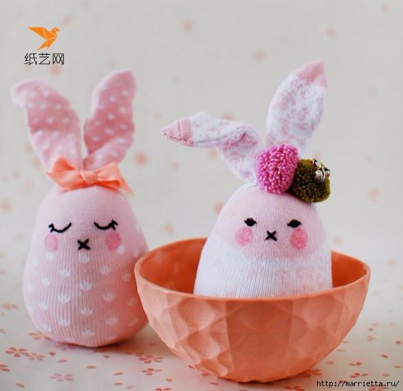Забавные кролики из носков. Мастер-класс (2) (586x569, 120Kb)