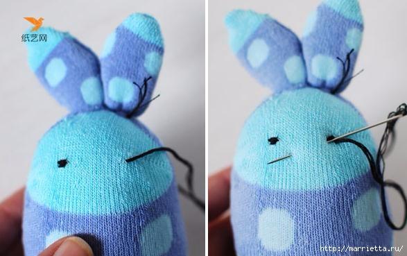 Забавные кролики из носков. Мастер-класс (13) (587x369, 120Kb)