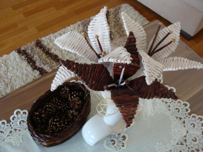 Плетение из газетных трубочек мастер класс цветы
