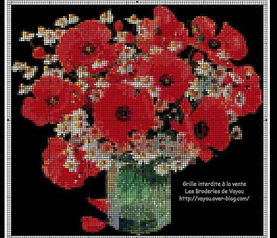Вышивка крестиком - Цветы