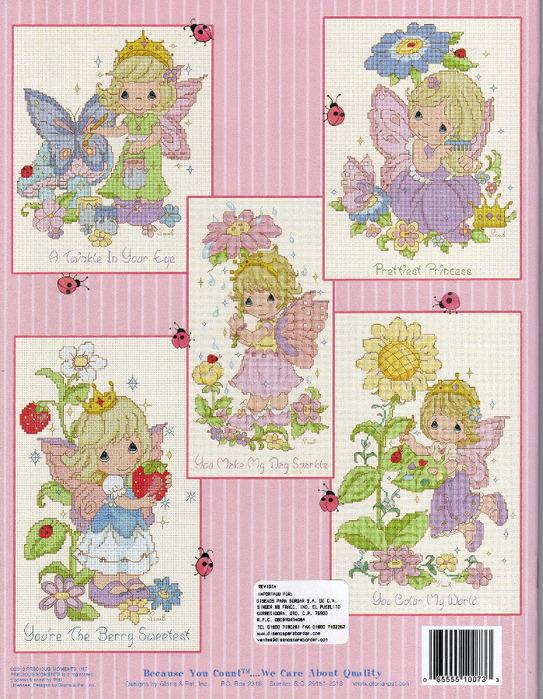 Gloria&Pat PM 73 Sweet Fairy Princess 2009 (Вышивка крестом).  Буклет со схемами для вышивки крестом.