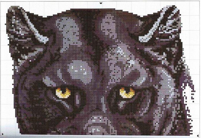 Вышивки тигров схемы