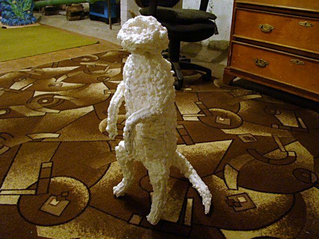 Скульпутрва из монтажной пены - Лиса