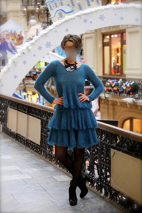 ...податливого разреза Леночкиной схемы вязание спицами зимнее платье.