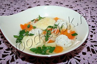 суп куриный с клёцками рецепт с фото